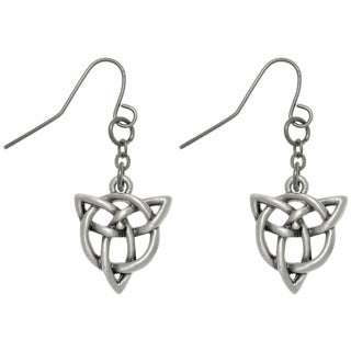 CGC Pewter Trinity Knot Earrings