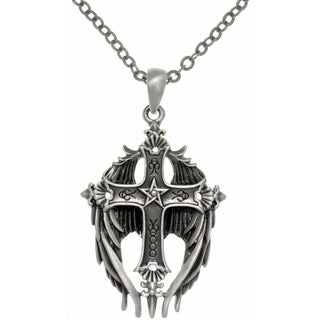 CGC Pewter Winged Cross Necklace