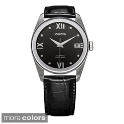 Jowissa Swiss Men's 'Monte Carlo' Automatic Patent Leather Date Watch