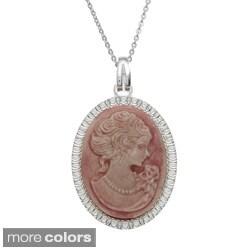 La Preciosa Sterling Silver Italian-Made Cameo Oval Pendant