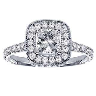 14k White Gold 1 3/4ct TDW Princess Diamond Engagement Ring (F-G, SI1-SI2)