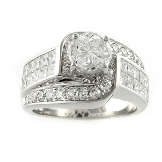 Quortia Collection 14k White Gold 2 5/8ct TDW Diamond Engagement Ring (H-I, SI)