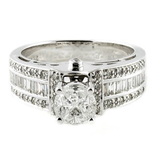 Quortia Collection 14K White Gold 1ct TDW Diamond Engagement Ring (H-I, SI)