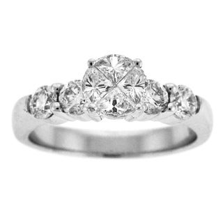 Beverly Hills Charm Quortia Collection 14k White Gold 1 1/3ct TDW Diamond Engagement Ring (H-I, SI)
