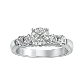Beverly Hills Charm 14k White Gold 1 1/3ct TDW Diamond Engagement Ring (H-I, SI1-SI2)
