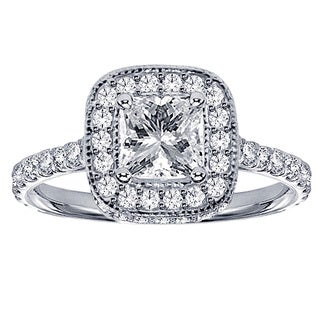 14k White Gold 2ct TDW Clarity-enhanced Diamond Engagement Ring (F-G, SI1-SI2)