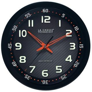 La Crosse Technology Black 10-inch Chapter Ring Wall Analog Clock