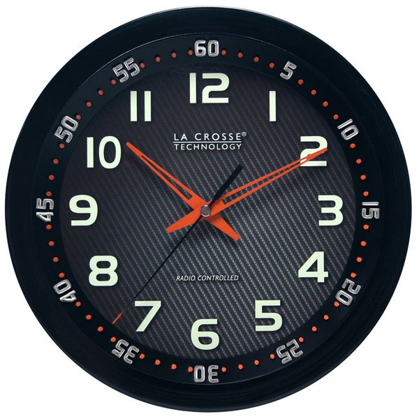 La Crosse Technology Black 10-inch Chapter Ring Wall Analog Clock