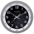 La Crosse Technology Silver 10-inch Chapter Ring Wall Analog Clock