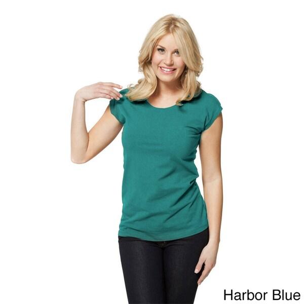 modbod Women's Basic Cap Sleeve Shirt