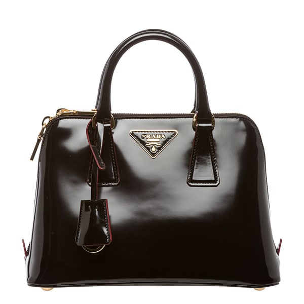 handbag prada price - Prada 'Spazzolato Promenade' Mini Black Patent Leather Satchel ...