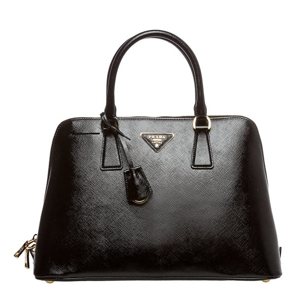 Prada \u0026#39;Vernice\u0026#39; Black Saffiano Leather Top Handle Bag - 15352986 ...