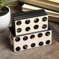 White/ Black Circles Coaster Set (India)