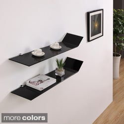 Gravity Modern Glass Shelves (Set of 2)