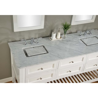 Direct Vanity 70 Inch Pearl White Mission Spa Double Vanity Sink Cabinet Overstock Shopping