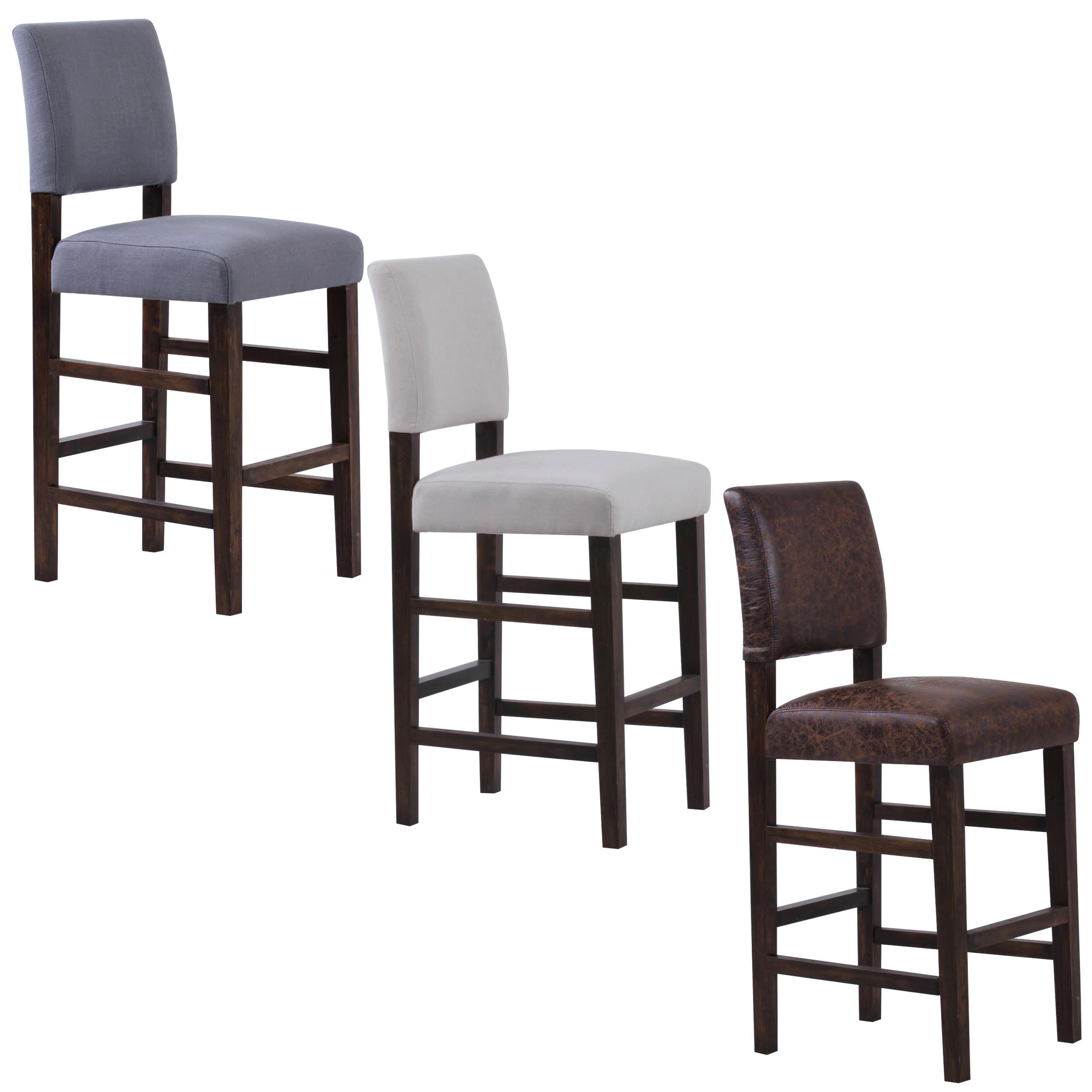 Bridger Upholstered Bar Chairs (Set of 2)