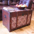 Savannah Floral Large Wooden Chest Steamer Trunk