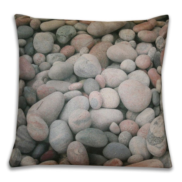 18 x 18-inch Photo Real Pebbles Decorative Throw Pillow