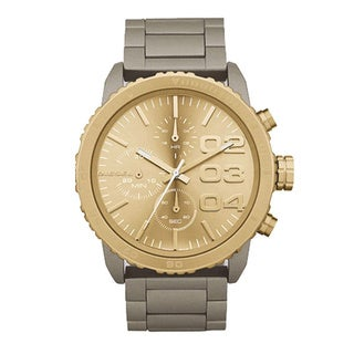 Diesel Men's Chronograph Stainless Steel Sand Finish Gold Dial Watch