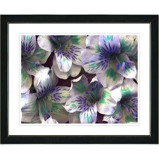 Studio Works Modern 'Spring Flowers - Purple' Framed Print