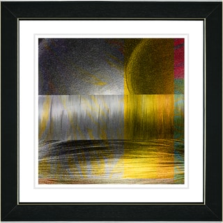 Studio Works Modern 'Veggie Medley - Yellow' Framed Print