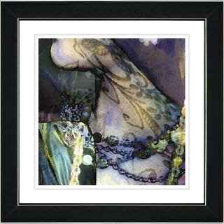 Studio Works Modern 'Tattoo - Green' Framed Print
