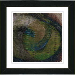 Studio Works Modern 'Moon Glow - Moss' Framed Print