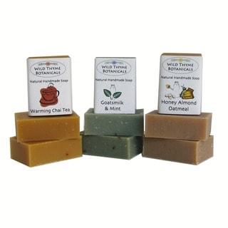 Natural Handmade 3-bar Milk Soap Trio