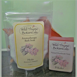 Pikake Soap and 3-Ounce Bath Salt Set