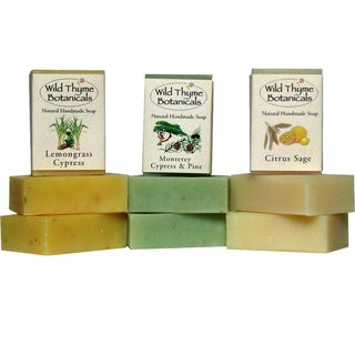 Trio of Citrus Cypress Inspired Natural Handmade Soaps