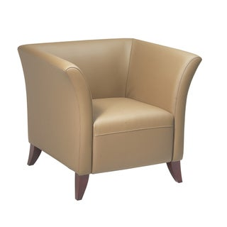 Office Star Products Taupe Leather Club Chair