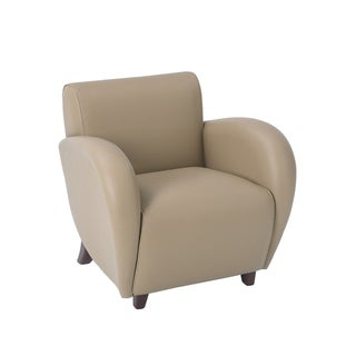 Office Star Products Eleganza Taupe Eco Leather Club Chair
