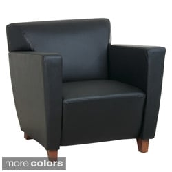Office Star Products Black Leather Club Chair