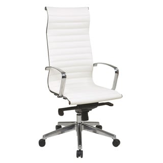 Office Star Products High Back White Eco Leather Chair
