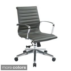 Office Star Products Mid Back Eco Leather Chair