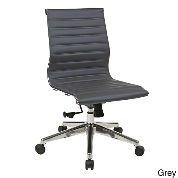eco leather office star products armless mid back eco leather chair