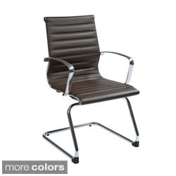 Office Star Products Mid Back Eco Leather Visitor's Chair