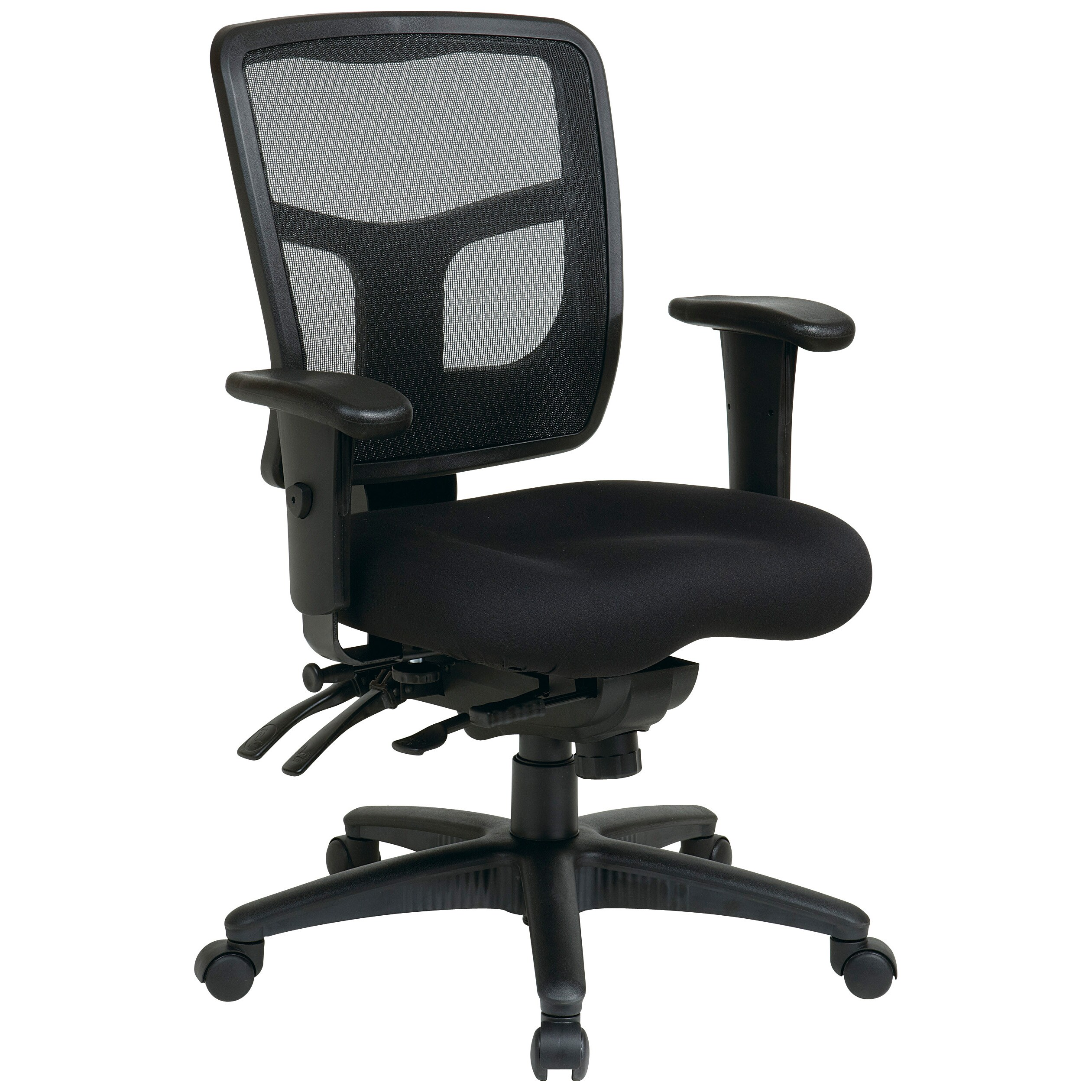 Office Star Pro-Line II ProGrid Black Padded Mesh Office Chair at Sears.com