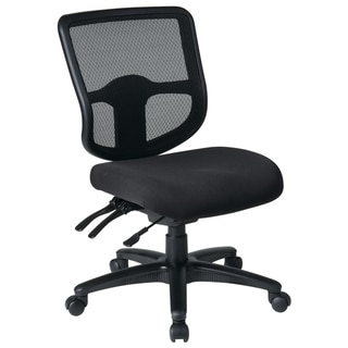 Pro-Line II Black Breathable Armless Task Chair