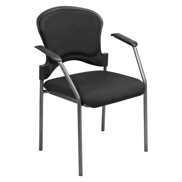 Pro-Line II Black Contoured Visitor's Chair