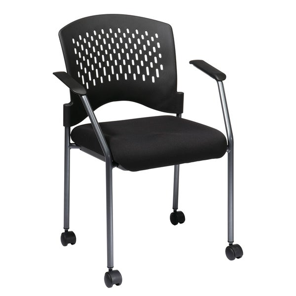 pro line ii ventilated plastic rolling visitor 39 s chair