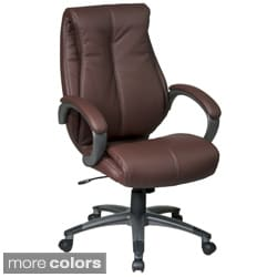 Office Star Products 'Work Smart' Eco Leather Seat and Back Executive Chair Model ECH6640