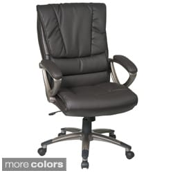 Office Star Products 'Work Smart' Eco Leather Seat and Back Executive Chair Model ECH6710