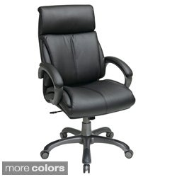 Office Star Products 'Work Smart' Eco Leather Seat and Back Executive Chair Model ECH6880