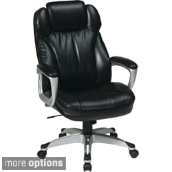 Office Star Products 'Work Smart' Eco Leather Seat and Back Executive Chair Model ECH8580