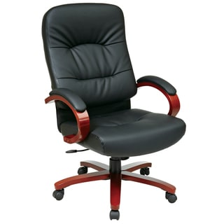 Office Star Products 'Work Smart' Eco Leather Contour High Seat and Back Executive Chair