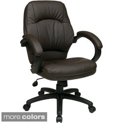 Office Star Product 'Work Smart' Faux Leather Contour Back and Seat Chair