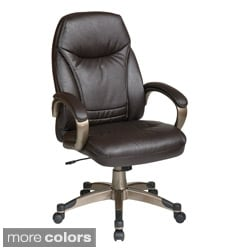 Office Star Products 'Work Smart' High Back Contour Seat and Back Faux Leather Chair
