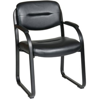 Work Smart' Faux Leather Contour Seat and Back Visitor's Chair