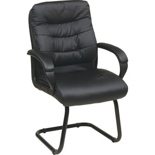 Office Star Products 'Work Smart' Faux Leather Visitor's Chair